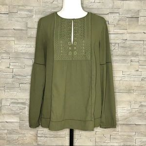 Banana Republic olive green blouse